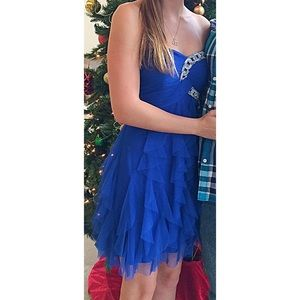 Blondie Nites Dresses & Skirts - Blondie Nites Royal Blue Homecoming Dress