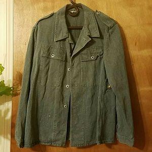 Vintage Denim (Possibly Military) Jacket