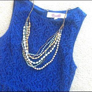 Francesca's Collections Dresses & Skirts - Royal Blue Lace Dress