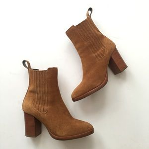 brown suede dune london ankle boots