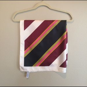Vintage Totes Water Repellant Striped Scarf