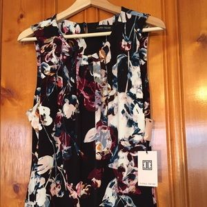 Ivanka Trump Tops - NWT Ivanka Trump Black & White Floral Work Blouse