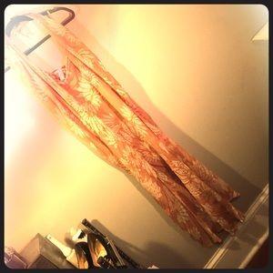 Ordinary Sunset Silk DVF Beach Dress