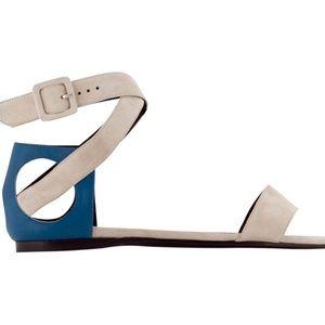 Pierre Hardy Shoes - Blk Pierre Hardy Flat Sandals