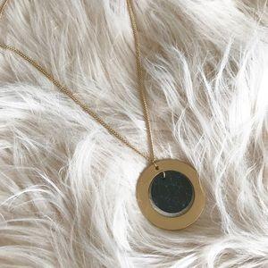 Jewelry - NWT    Black Marble Long Minimalist Necklace