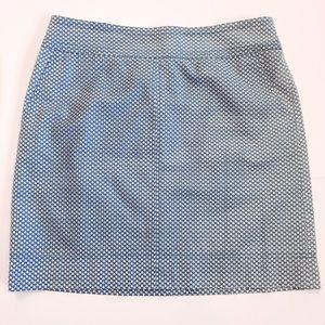 Talbots blue and white skirt