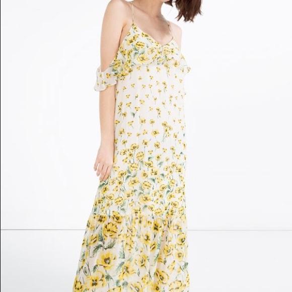 39% off Zara Dresses & Skirts - ZARA Long flower printed dress ...