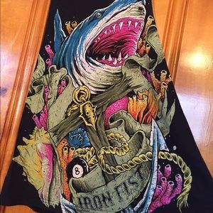 Iron Fist Tops - Iron Fist Neon Shark Tank Top