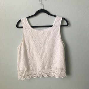 Poetry Tops - White lace shirt!