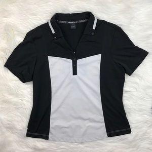 DKNY Tops - DKNY Golf Black & White Polo Shirt