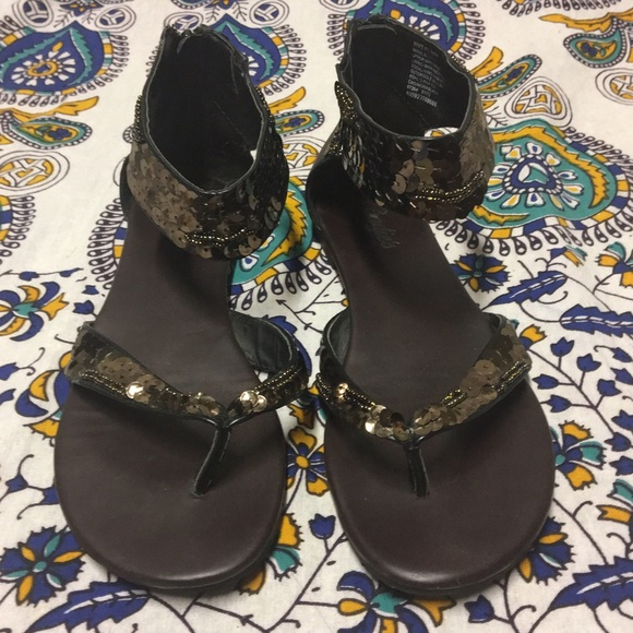 Candie s Shoes - Candies Sequin Bohemian Beaded Gladiator Sandals