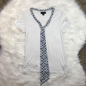 Jason Wu Tops - Jason Wu for Target White Tie Neck Tee