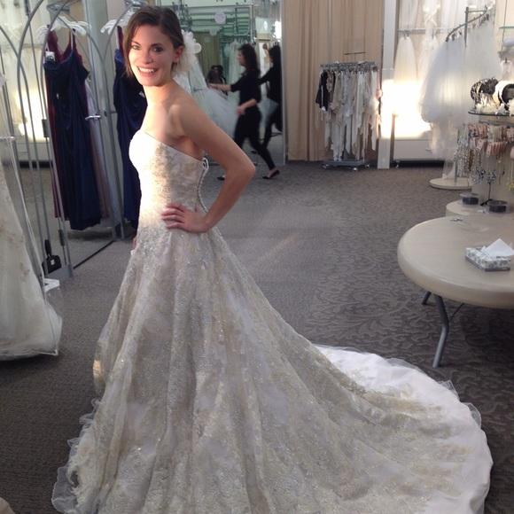 Oleg Cassini Dresses Wedding Dress Style Cwg592 Size 0 Poshmark
