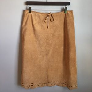 Ann Taylor Dresses & Skirts - NWT Ann Taylor 100% Leather Suede Skirt