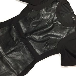 Bardot Dresses & Skirts - Black Snake Leather and Fabric ASOS Dress