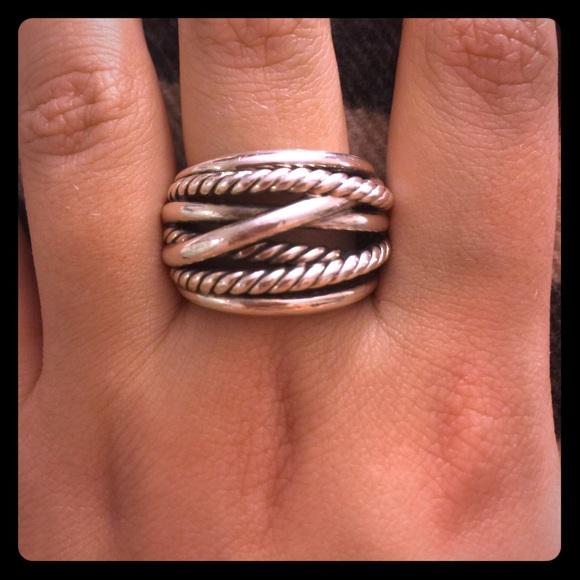 David Yurman Jewelry Crossover Wide Ring Size 9 Poshmark
