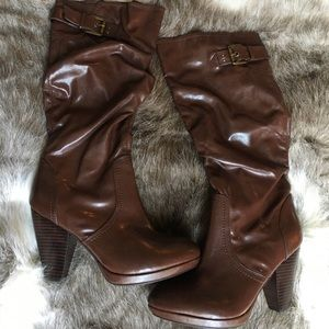 Marc Fisher Shoes - Marc Fisher NWOB brown heeled boots