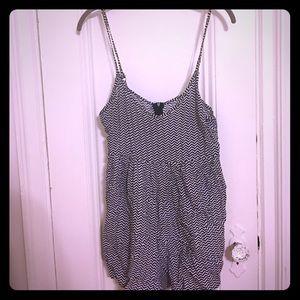 LF Stores Dresses & Skirts - Chevron stripe romper