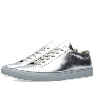 Common Projects Shoes - Common Projects Silver Original Achilles Low