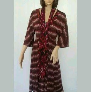 Melissa Masse Dresses & Skirts - Melissa Masse Stretchy Dress w/ Scarves EUC