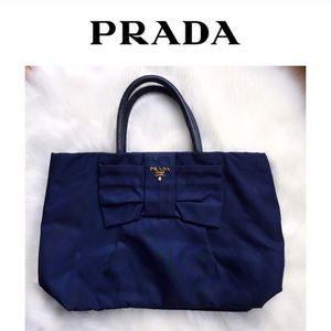 Prada Handbags - ☆2xHP✧ᴘʀᴀᴅᴀ▷ᴮᴵᴳ ᴮᴸᵁᴱ ᴮᴼᵂ+ᴳᴼᴸᴰ ᴴᴬᴺᴰᴮᴬᴳ•ᴳᴼᴸᴰ•