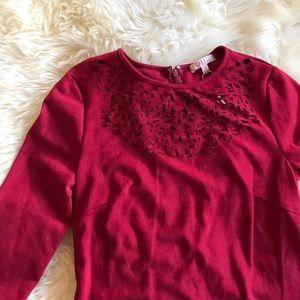 Spense Dresses & Skirts - Berry knee length velvet dress