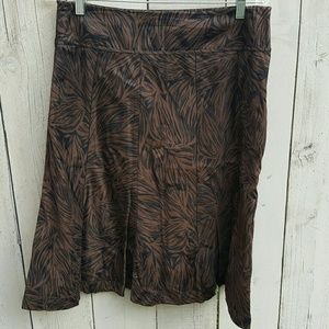 Ann Taylor Brown Skirt 8