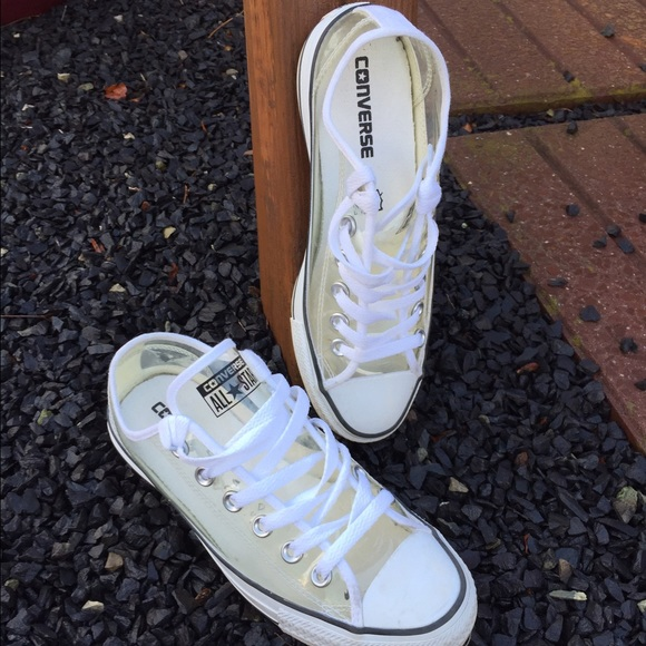 cabf5ae226 Converse All Star Clear Transparent Sneakers