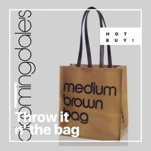 ✅CLEARANCE $20 BLOOMINGDALES MEDIUM BROWN TOTE BAG