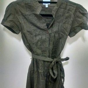Oasis linen shirt dress