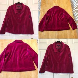 Royal velour Velvet trendy jacket blazer size 8