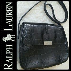 Ralph Lauren Handbags - Ralph Lauren Croc Embossed Leather Bag