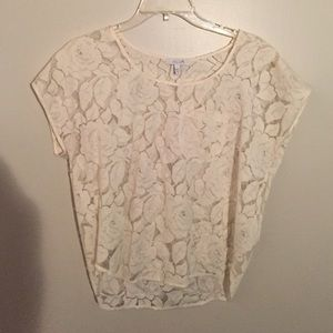 Delia's Lace Top with Pocket