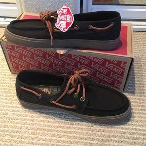 vans chauffeur canvas boat shoe