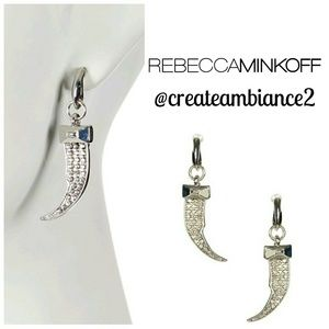 Rebecca Minkoff Pave Horn Post Drop Earrings