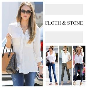 Anthropologie Cloth & Stone Button Down. NWOT.