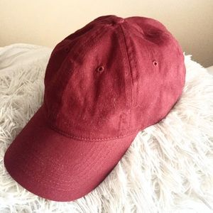 Plain Maroon Baseball Cap Hat