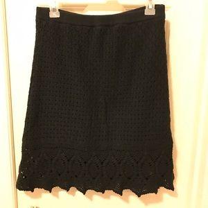 NWOT, ATHLETA Cutback Crochet Skirt, Black, Sz M