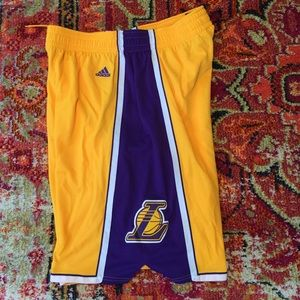 Adidas Other - Mens xl Adidas Los Angeles Lakers authentic shorts