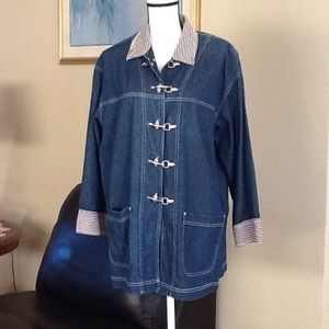 Carole Little Jackets & Blazers - Vintage Carole Little denim jacket