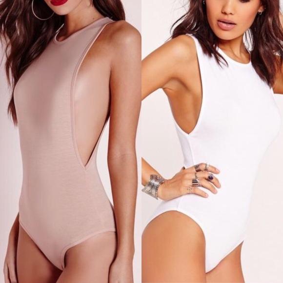ba18c2814f Nude white drop armhole bodysuit bundle