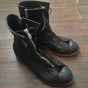 Miharayasuhiro Other - Men's Black Zip & Lace Up Boots by Miharayasuhiro