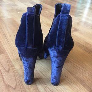 ASOS Shoes - ASOS blue suede booties