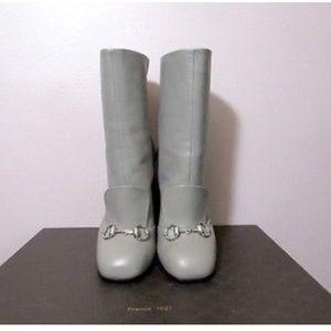 Gucci Shoes - 100% AUTH GUCCI gray Lillian calf boots BNIB