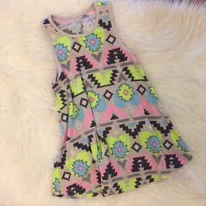 Justice Other - Justice Neon Aztec Swing Tank NWOT