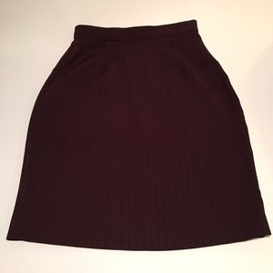 Vintage plum striped skirt