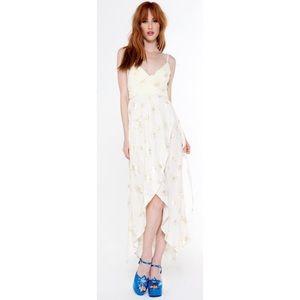 Novella Royale Dresses & Skirts - Novella Royale Peny Gold Lilly Dress Free People