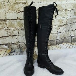 Via Spiga Shoes - Amazing Via Spiga over the knee leather lace up