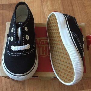 Vans Shoes - Authentic black and white lace up Vans