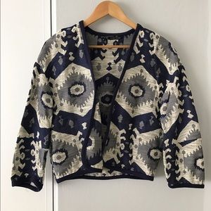 Patterned Crop Coat by Zara
